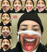 Smiley Face Mask Funny Novel Face Cover Reusable Washable Mask Positive shield