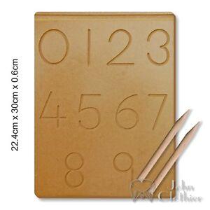 Numbers Board Tracing 0-9 Writing skill Practice Kids Preschool Educational toys