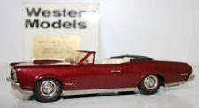 WESTERN MODELS 1/43 W1C - 1966 PONTIAC GTO OPEN CONVERTIBLE - MET. MAROON