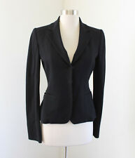 Elie Tahari Womens Solid Black Snap Button Blazer Jacket Size XS Career