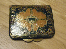 1950s Florentine Gilt Gold Embossed Italian Leather Coin Wallet