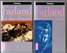 LOT DAVID FARLAND # DOULEUR DE LA TERRE 1-2 # DON AMOUR/ANNEAU SERPENT # pocket