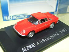 RENAULT ALPINE A108 Coupé 2+2 1961 Rouge UNIVERSAL HOBBIES 1:43