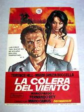 WIND'S FIERCE Original WESTERN Movie Poster TERENCE HILL MARIA GRAZIA BUCCELLA