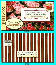 Phlox - Vintage Seed Packets  First Day Cover with Color Cancel