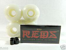 Bones Reds Bearing + Blank Pro Skateboard 52mm Color Wheels + Spacer