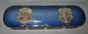 ANTIQUE GERMAN COBALT BLUE GLOVE BOX  ca. 1880s