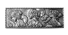 Lady Parade Maenads 3 Graces Baccae Pewter Barrette Hair Clip by Oberon Design