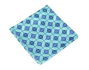 Lord R Colton Masterworks Pocket Square - Salvador Aquamarine - $75 Retail New