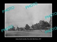 OLD POSTCARD SIZE PHOTO LAURA SOUTH AUSTRALIA, VIEW OF THE MAIN STREET c1907