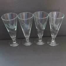 Set of 4 Vintage Pilsner Pedestal Glasses w/Frosted Etched Duck Design (Euc)