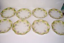 Beautiful RS Prussia Plates set of 8 Unmarked 6 1/4""
