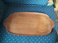 Mid Century Modern Wood Serving Tray Sweden 19 Inches Long Vintage