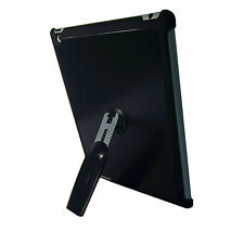 iPad 3 Black Quality Aluminium Hard Back Case Cover With 360 Rotation Stand