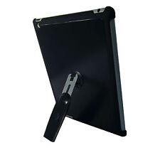 Ipad 3 Negro Calidad De Aluminio Duro posterior Funda Con 360 soporte de rotación