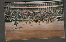 unmailed photo post card Entrada de la ciuadrilla matadors bull fighters