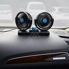 AFTERPARTZ HX-01 Dual Head 12V Electric Car Fan 360° Rotatable Auto Cooling