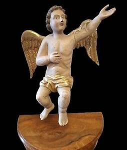 Engel Putto Putten Putte Holz Geschnitzt Schnitzerei Skulptur Figur 18/19 Jh.