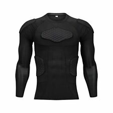 American Football Padded Shirts, Mens Goalkeeper Rugby Protective Top For