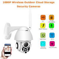1080P Wireless WiFi IP Camera Night Vision 4X Zoom Outdoor Security Cameras AU