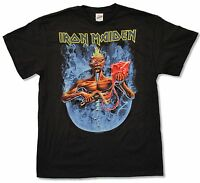 Iron Maiden Smoke Circle Black T Shirt New Official Metal Band Music