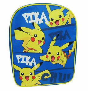 Official Pokemon Pikachu Boys Nursery School Backpack Rucksack Bag New