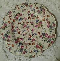 Scalloped Edge Decorative Collector's Plate with Flowers Made in Japan Signed