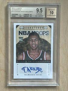 Giannis Antetokounmpo 2013-14 NBA Hoops Rookie Auto Autograph BGS 9.5/10