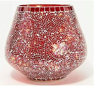 Lightscapes Illuminated Mosaic Vase Red Color