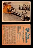AHRA Drag Nationals 1971 Fleer Canada Trading Cards You Pick Singles #1-70