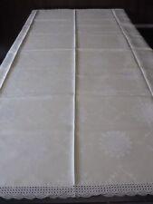 Tafeldecke Tischdecke Baumwoll Damast neuwertig Spitze 175x145 zartgrün CB2401