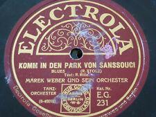 Marek Weber MEIN DARLING MUSS SO SEIN Electrola Schellackplatte 78upm