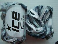 Fringe Lurex eyelash fashion yarn, silver/gray, lot of 2 (71 yds each)
