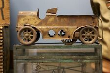 Vintage Antique Tin Toy Truck or Car fire truck Early old toy for parts repair