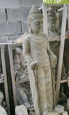 Balinese Standing Budha or Princess Height 1.5m - Green Lava Stone Statue Bali