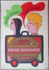 TWO FOR THE ROAD MOVIE POSTER AUDREY HEPBURN Original  POLISH 23x33 Inch