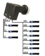 Unicable EINKABEL LNB GT GT-S3dCSS24 mit 3 Legacy-Ausgänge für 4K UHD TV DVB-S2