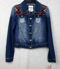 ea00facffed Mudd Jeans Brand Denim Jacket Junior s Size Medium New NWT Aztec Design