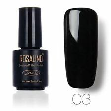 Rosalind Nail Varnish Nail Gel - Black Colour UV/LED - NV03