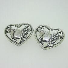 Pins Brooches Pair of Love Birds Sterling Silver Lot of 2 Coro Bird