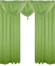 Rideaux et cantonnières vert en voile pour la maison