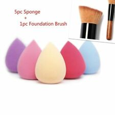 5PCS Pro Schönheit makellos Schwamm Make-up Foundation Blätterteig + Pinsel