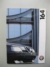 Alfa Romeo 164 prestige brochure Prospekt English text 1993 1994