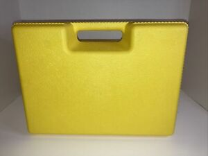 K'nex Yellow Carrying Case Durable Hard Plastic Sturdy Handle Storage Box Only