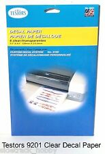 Testors 9201 Clear Decal Paper Refill for Custom Decal System