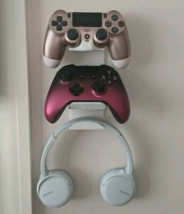 Controller and Headphone Holder for Xbox One and PS4 Wall Mount Stand