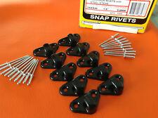 BUNJI ROPE LASHING TARP HOOKS BLACK + pops x 10 UTE TRAILER BOAT inc POSTAGE