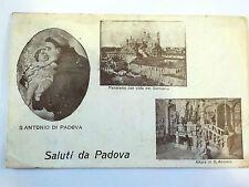 CARTOLINA POSTCARD Padova - S. Antonio vista del Santuario 1917 viaggiata
