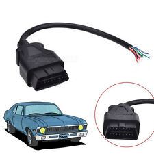 OBD 2 16 Pin Male Extension Connector Extender Opening OBD-II Cable Diagnostic