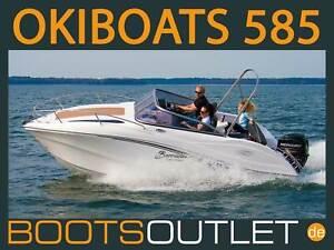 Motorboot Angelboot Boot Trailer Okiboats 585 Barracuda Sportboot Mercury
